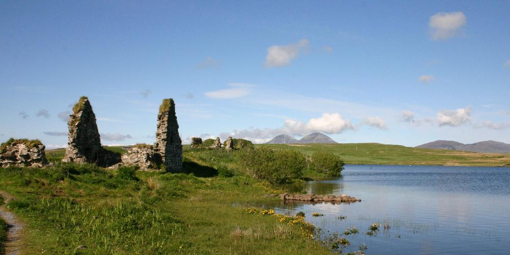 Finlaggan with Paps Behind, Islay by Robin McKelvie