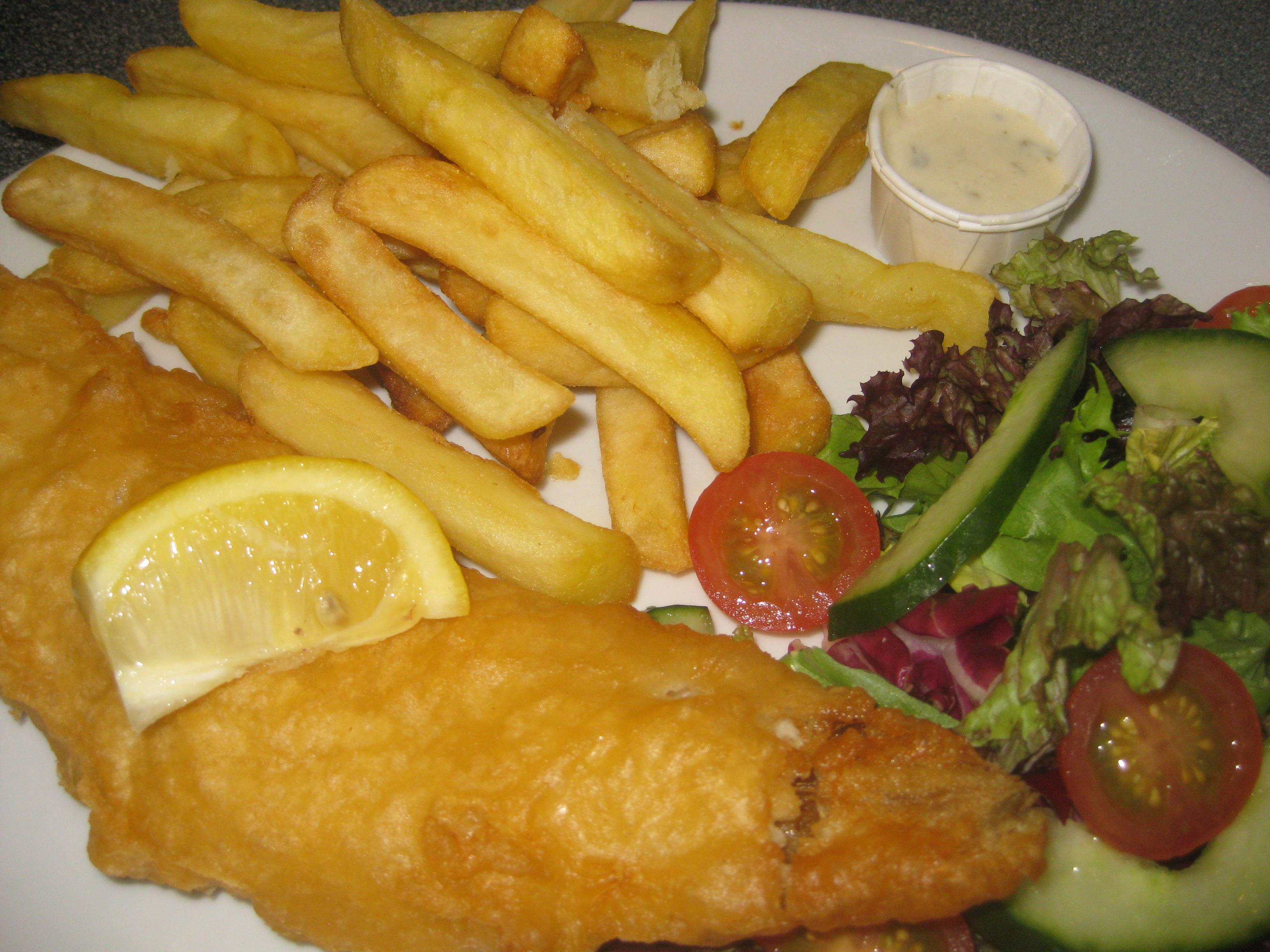 Battered Haddock close up