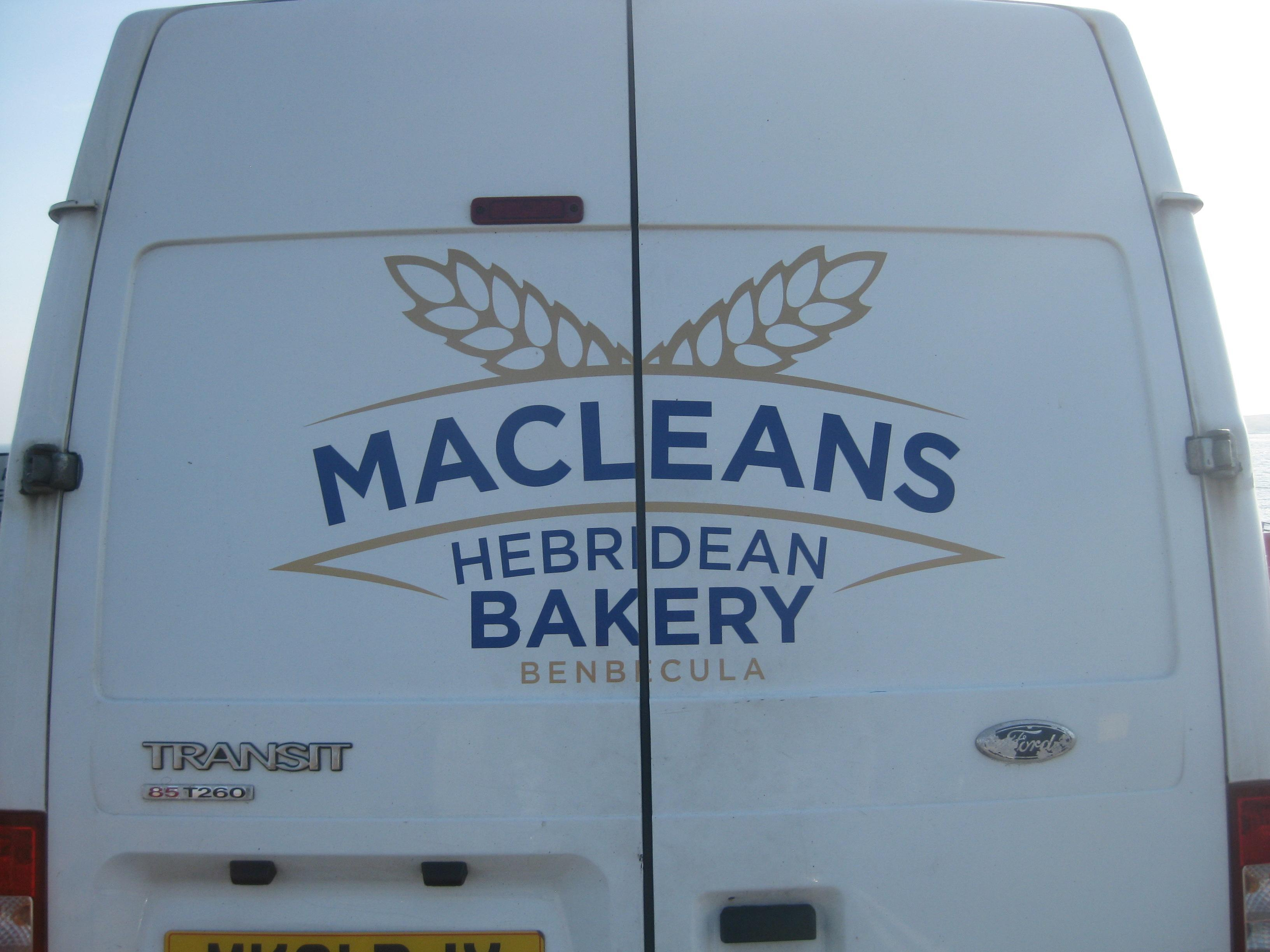 Macleans Bakery from Barra to Eriskay