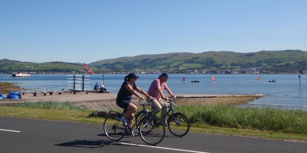 Cycling around Cumbrae