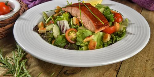 Argyll Smokery salmon salad
