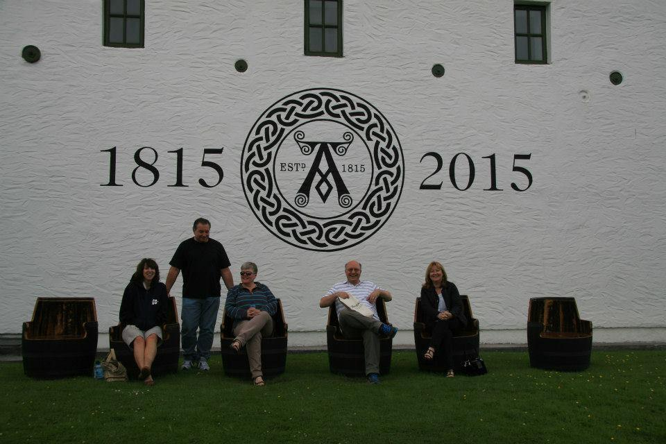 Ardbeg lunchtime with the crew