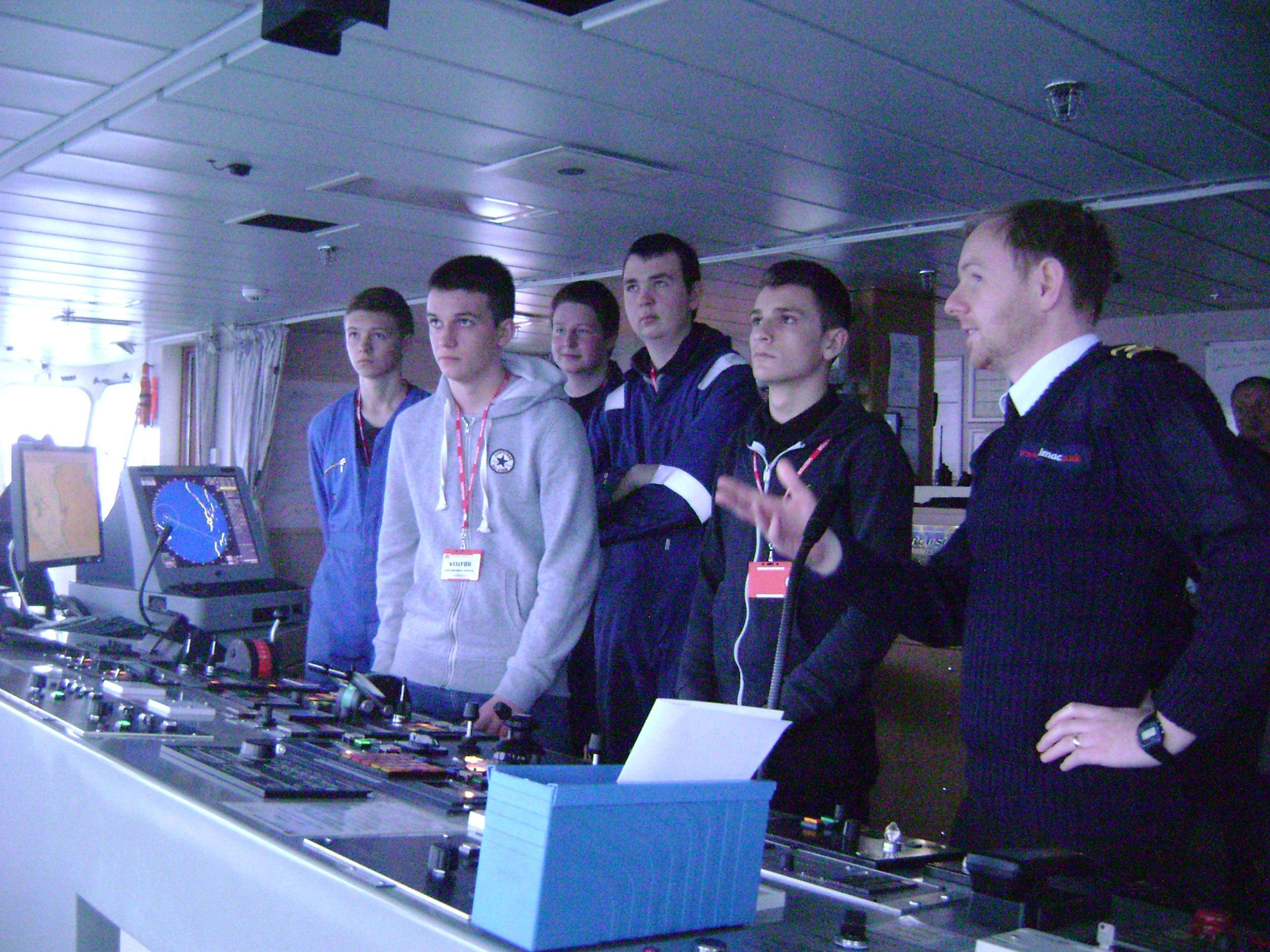 Pupils from Lionacleit School onboard CalMac MV Hebrides