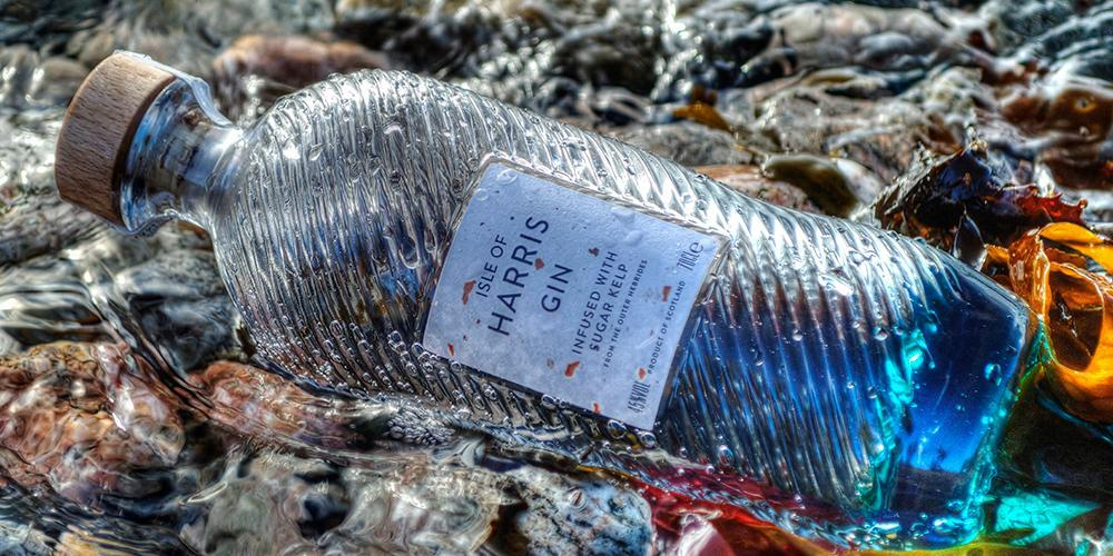 Isle of Harris Gin in the sea