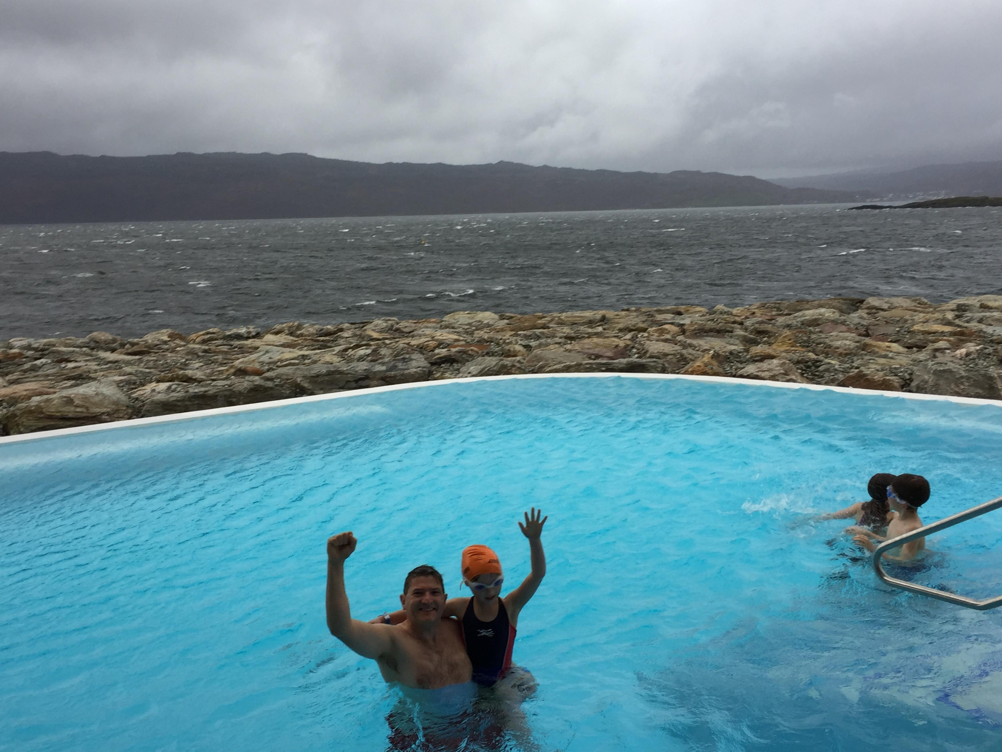 With family at Portavadie spa