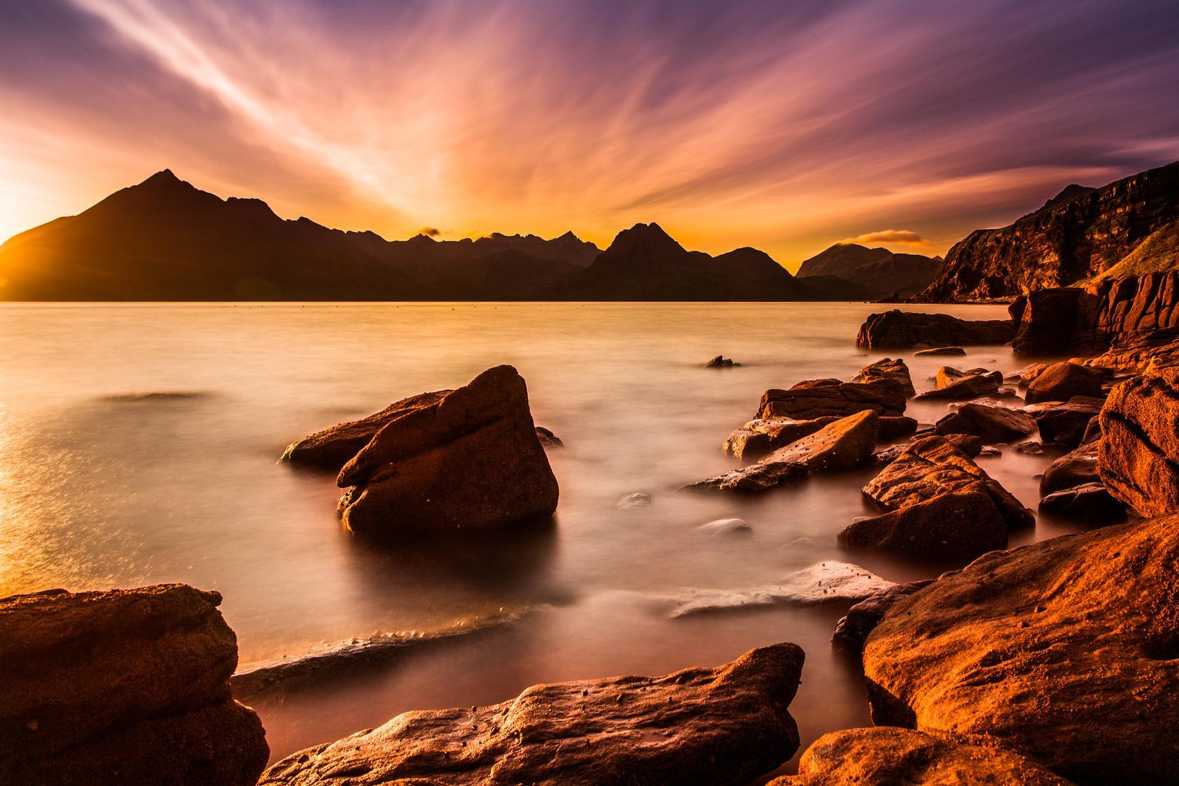 Skye, Elgol, Sunset