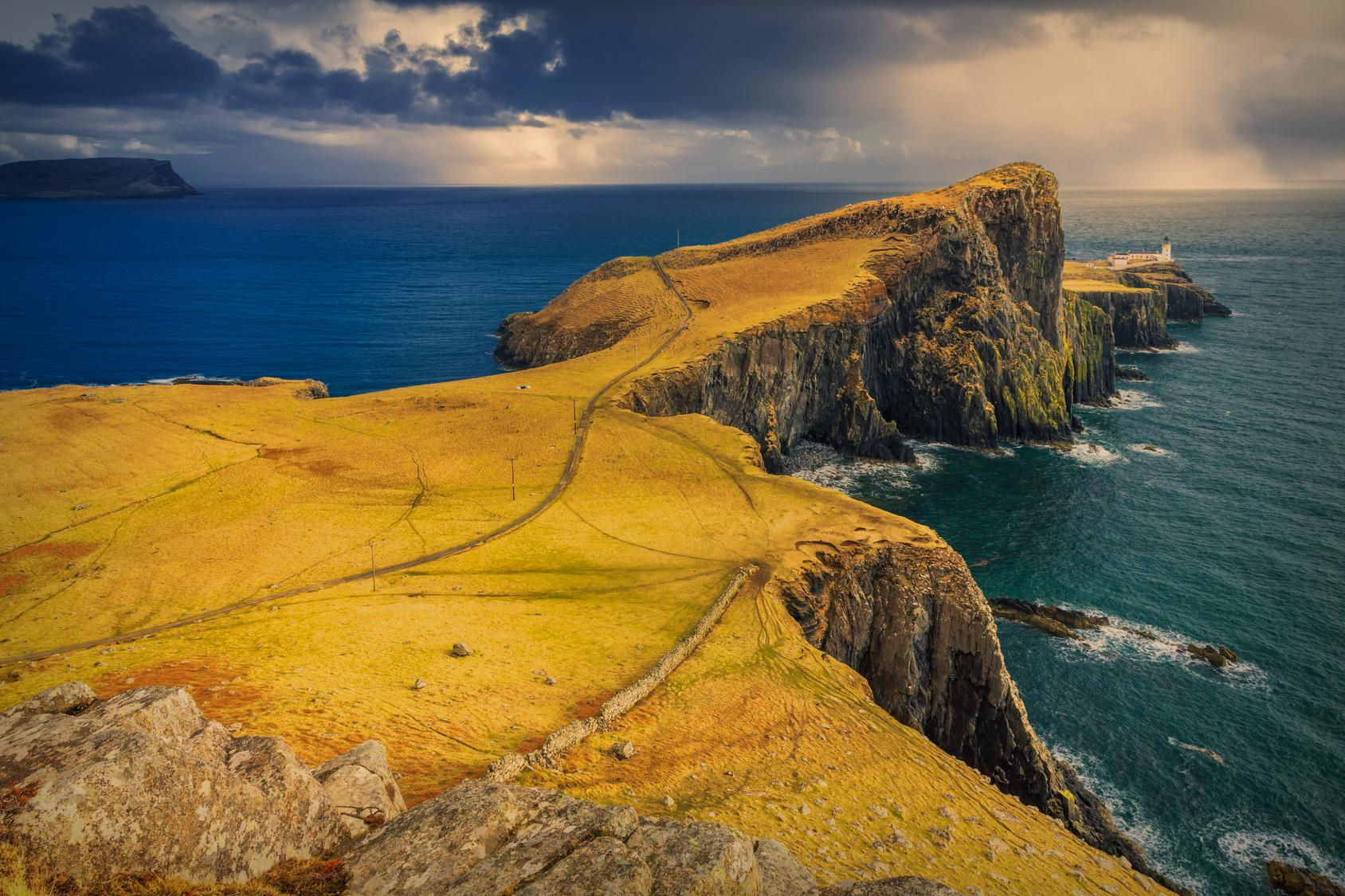 Skye, Neist Point, lighthouse