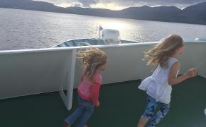 Robin's daughters en route to Arran