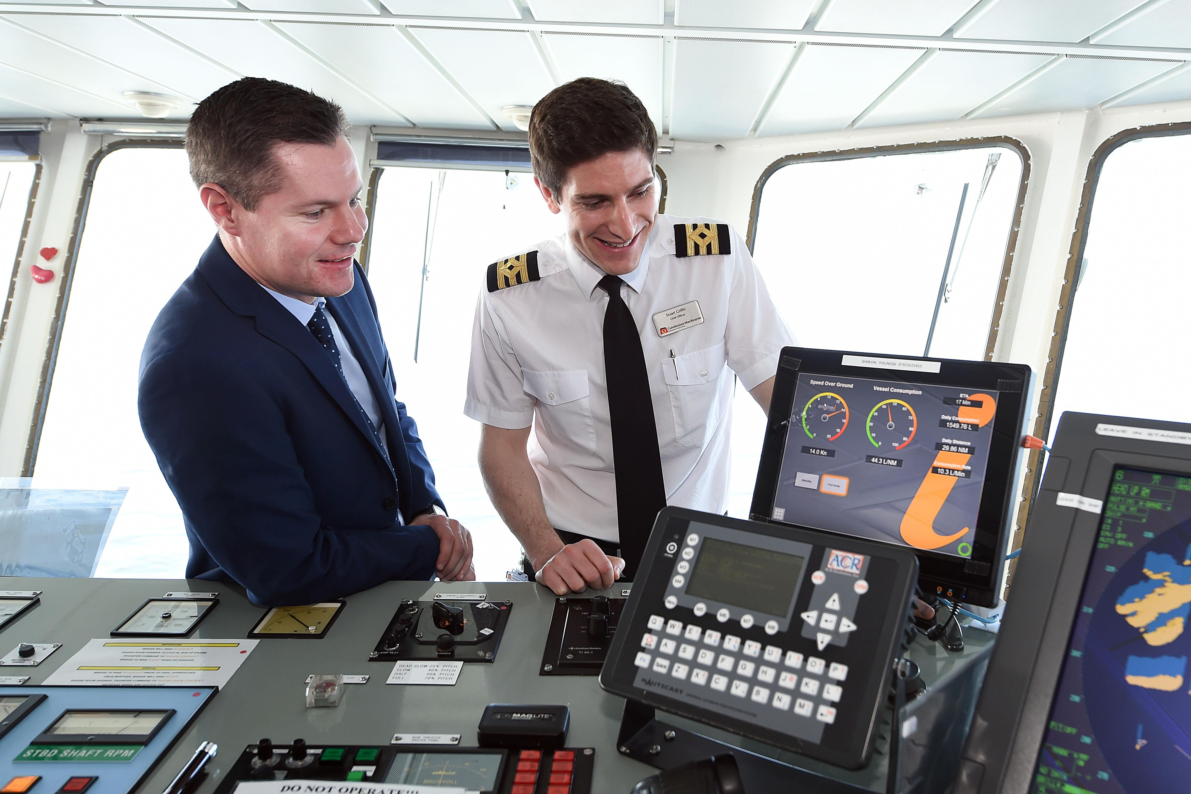 minister for transport and islands visit mv caledonian isles to learn more about calmac's drive to reduce greenhouse gas emissions