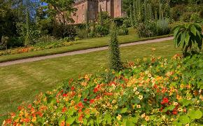 Brodick castle from walled garden Arran