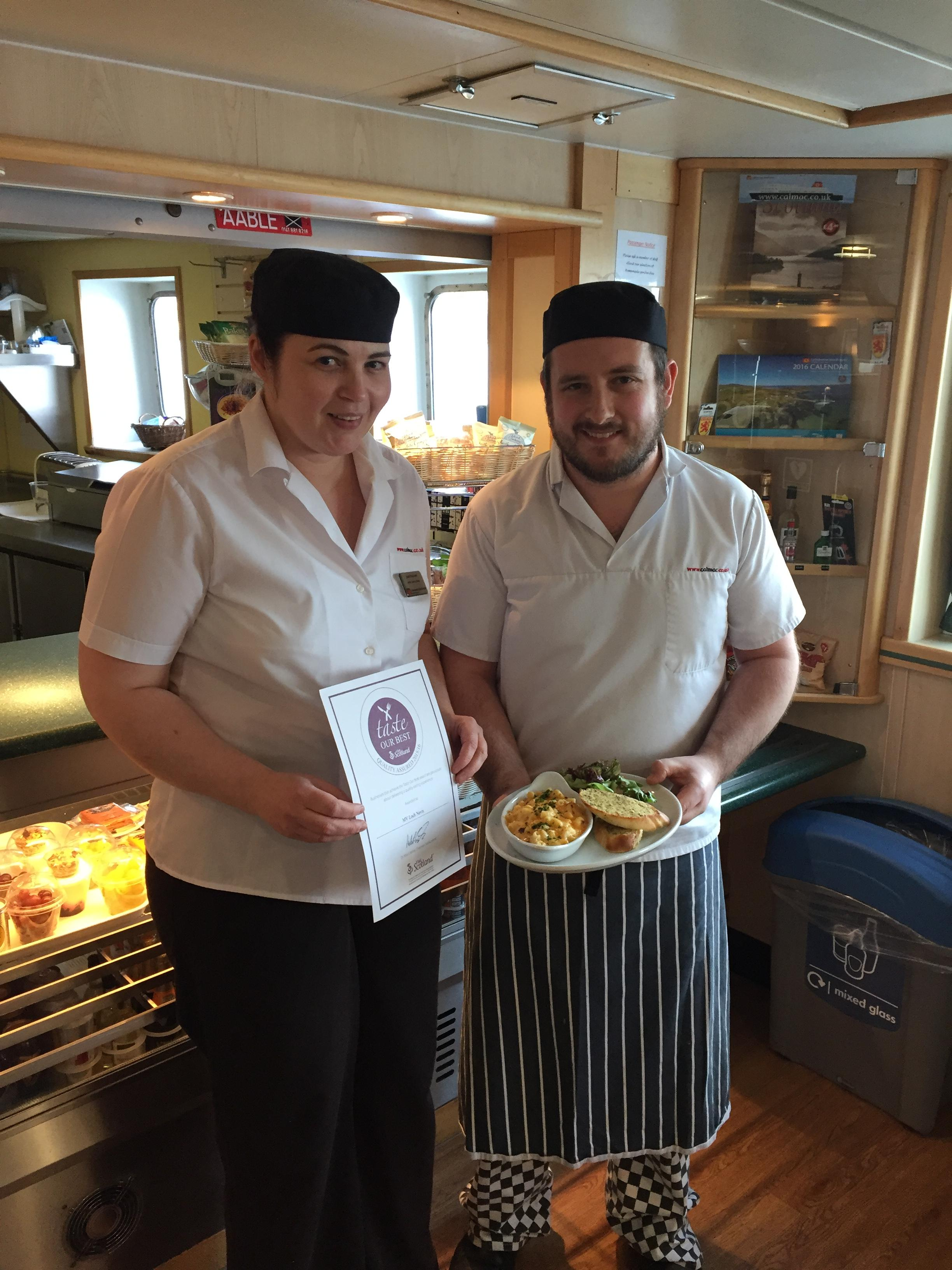 taste our best award for mv lochnevis