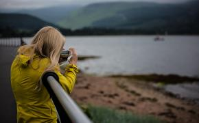 Taking a photo on Arran