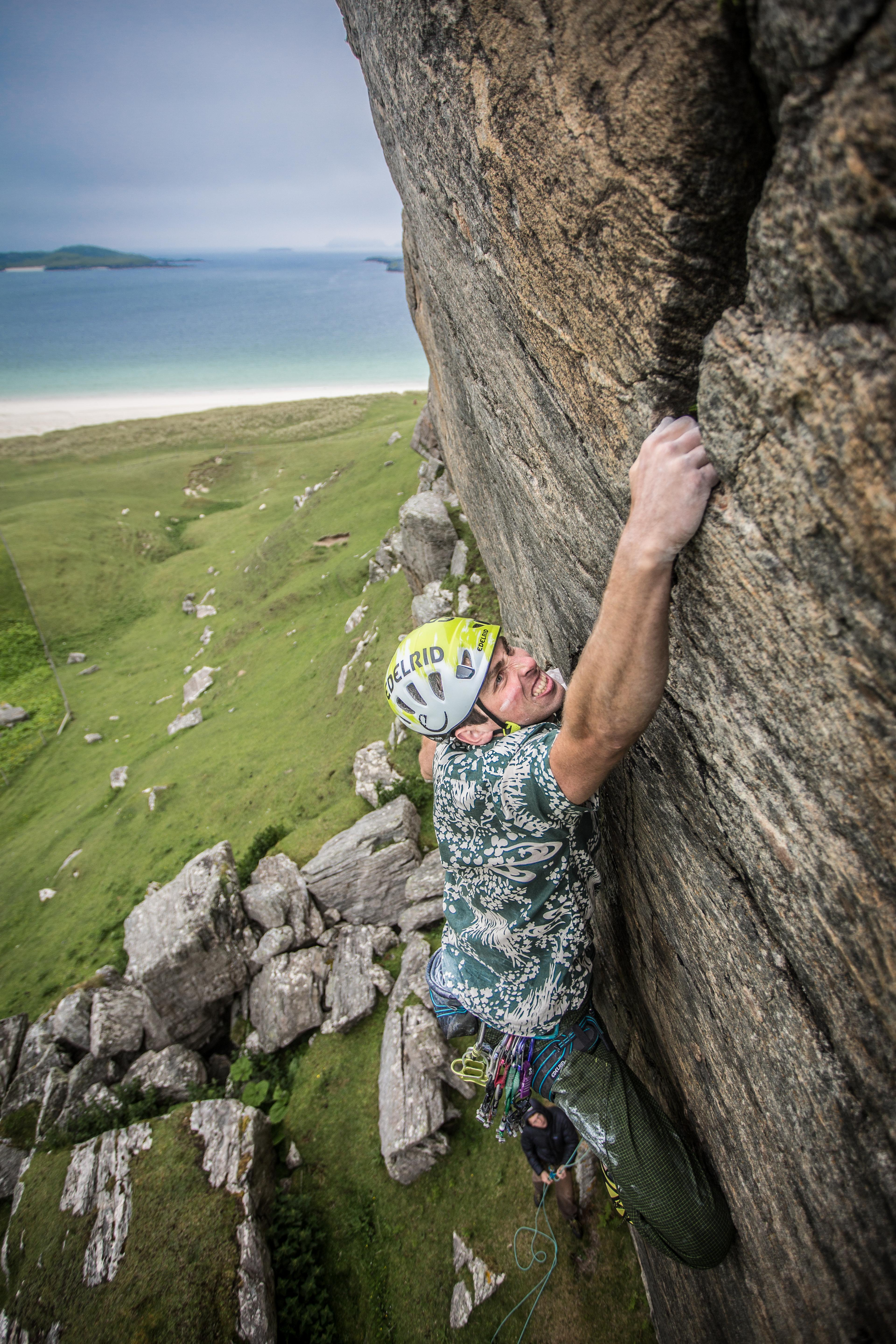 Climbing on the isle of Lewis