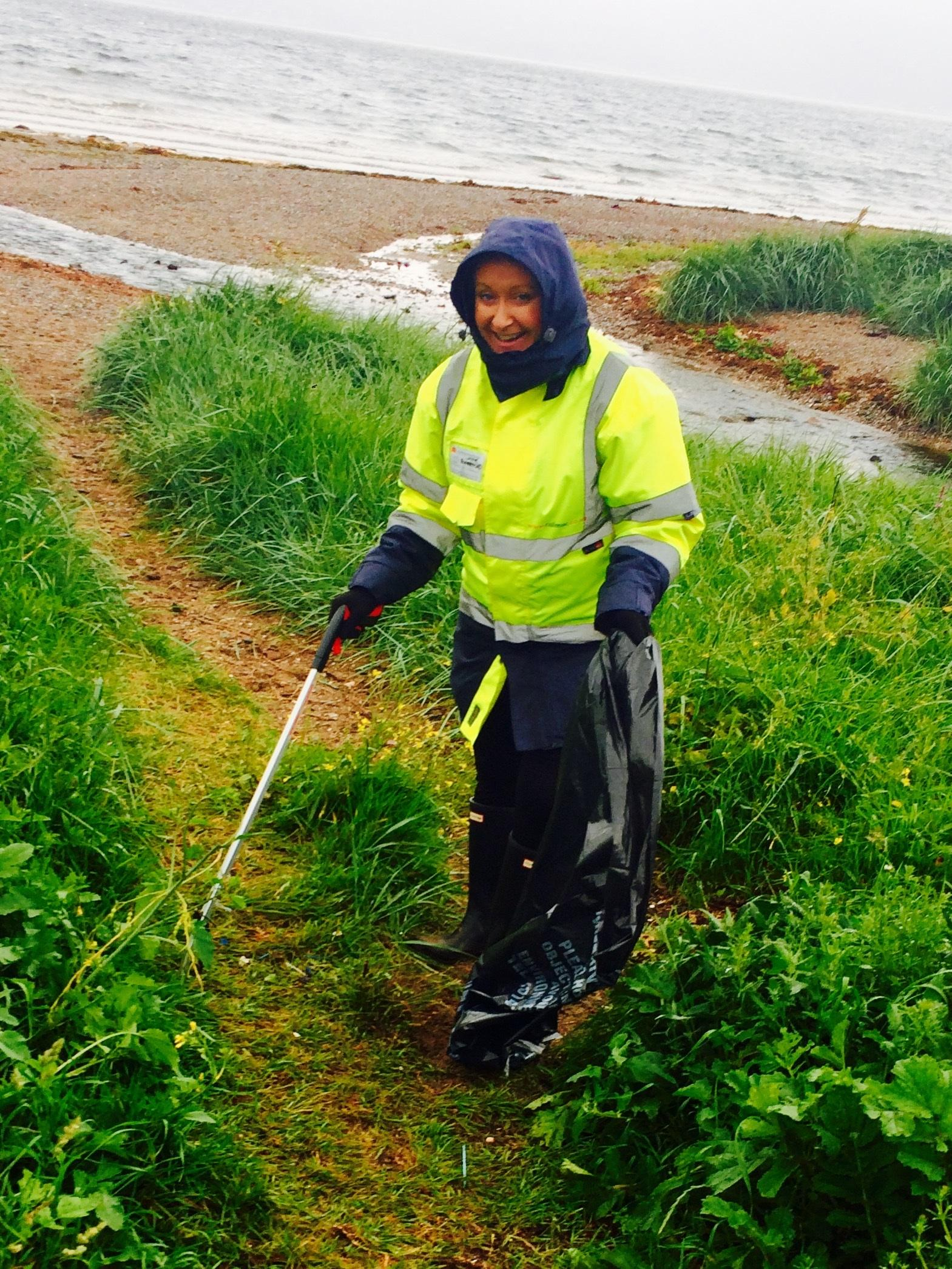 Lunderston Bay clean
