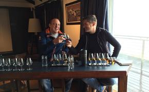 Robin enjoying a tasting at Bowmore