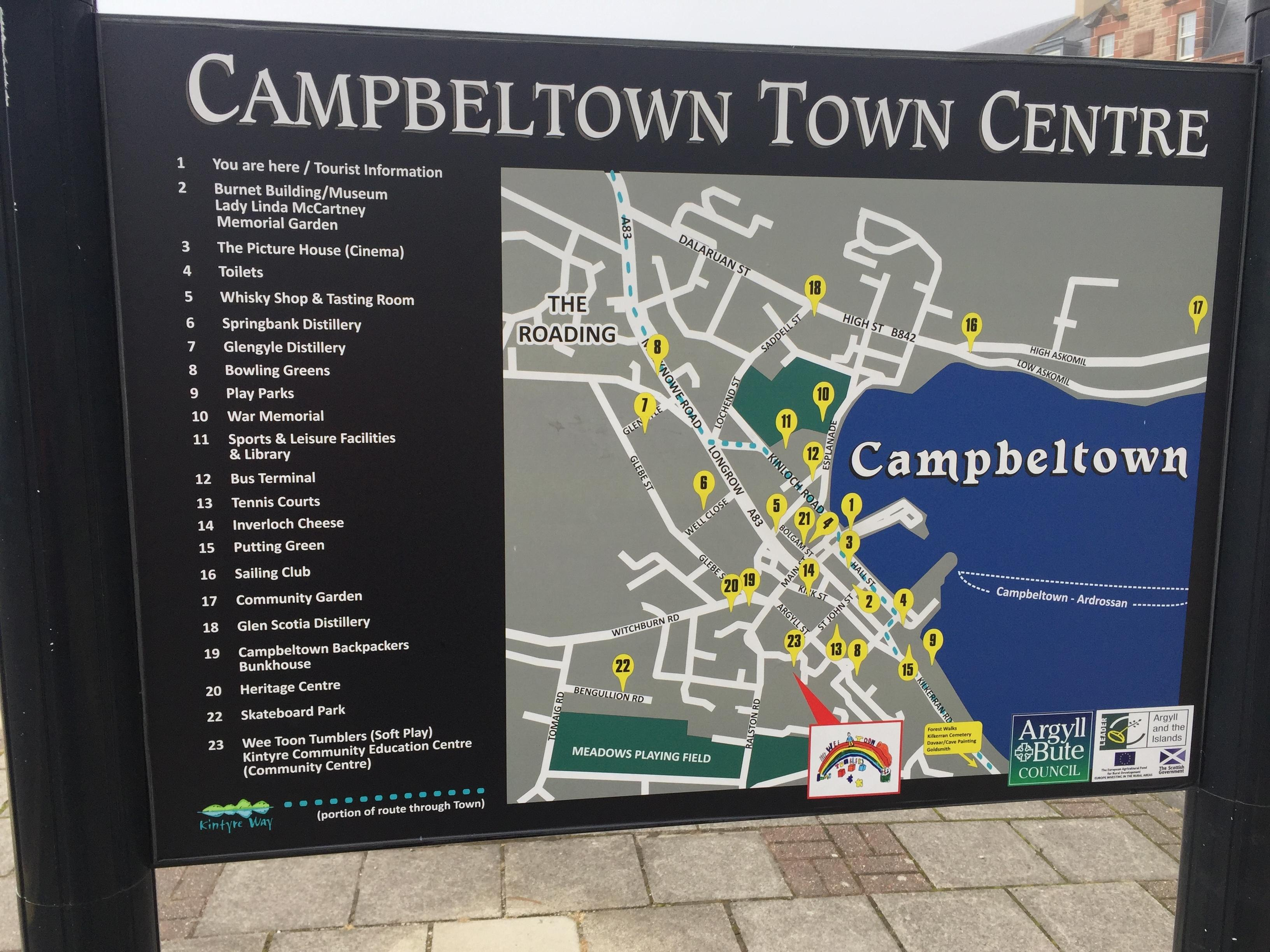 Campbeltown Map
