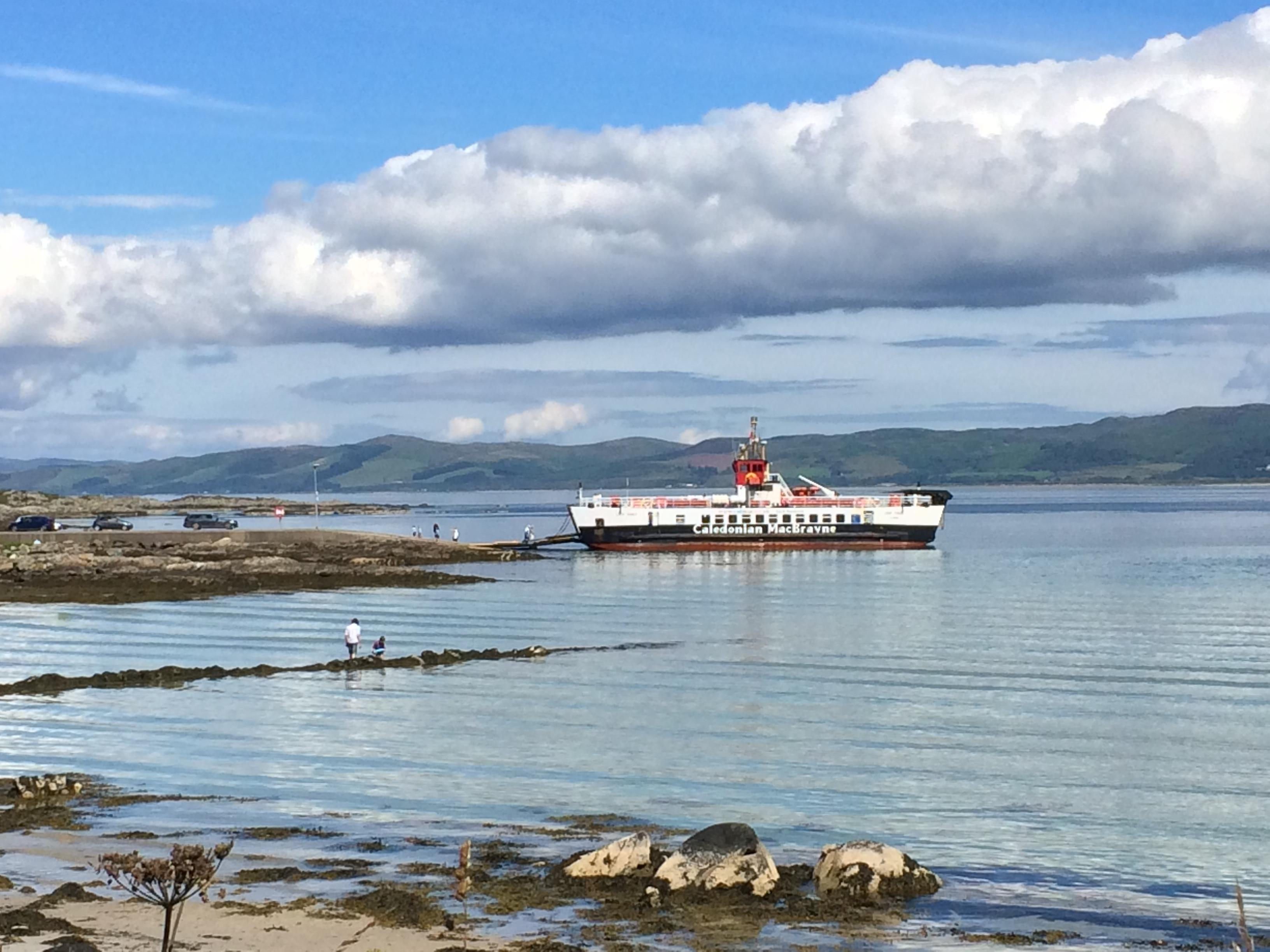 CalMac ferry at Gigha