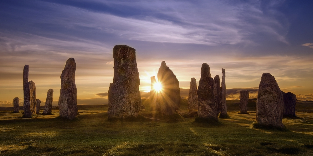 sunset at callanish stones