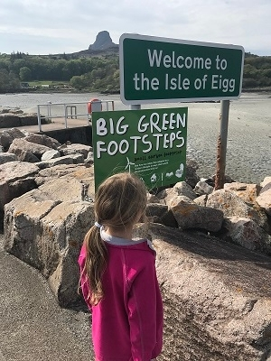 Green footprints on Eigg