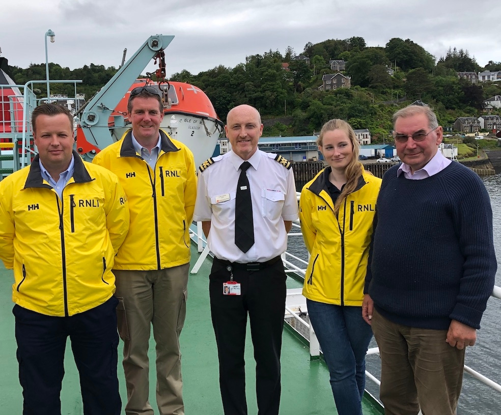 Donation to Oban Lifeboat