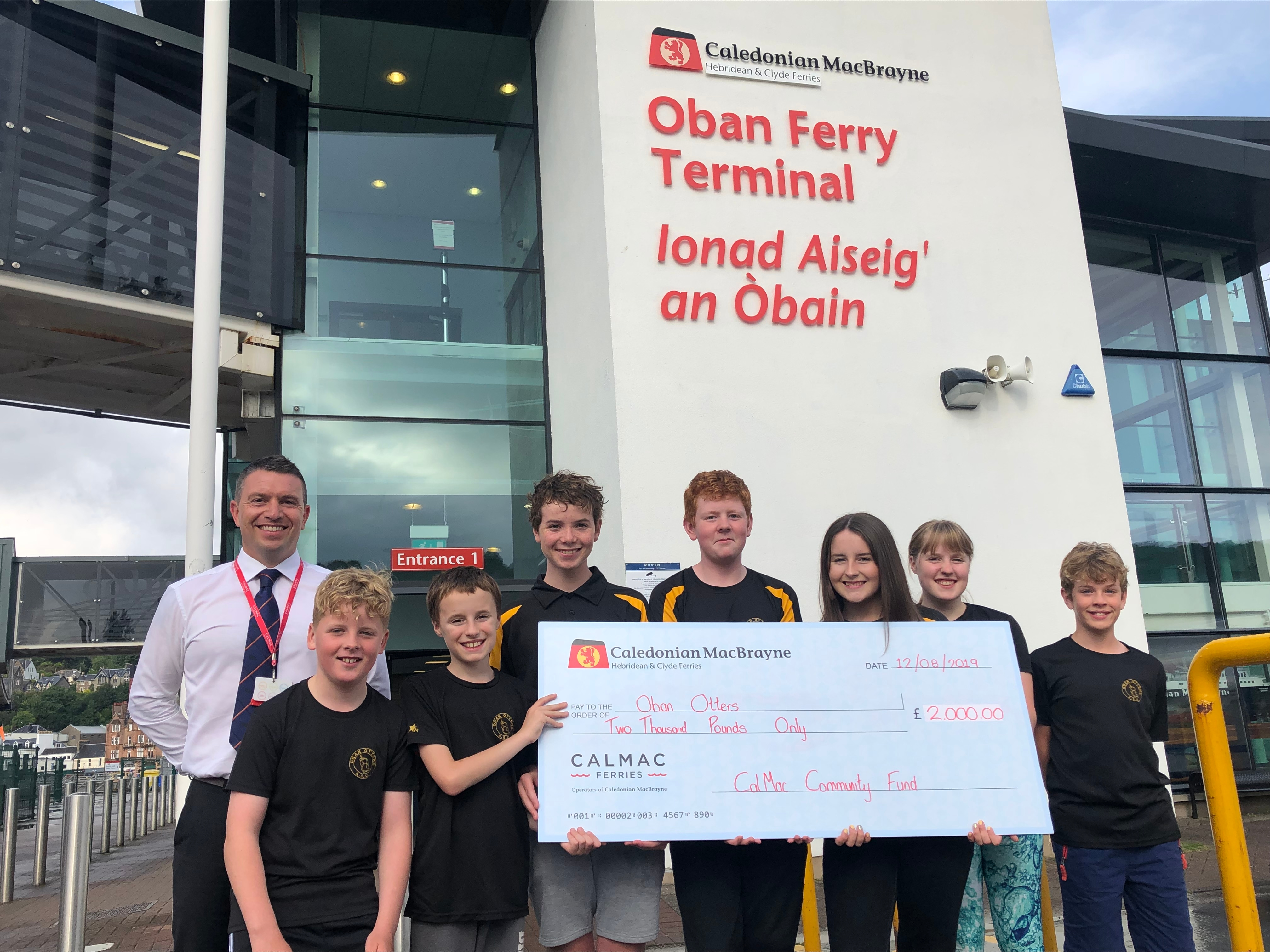 Oban Otters Amateur Swimming Club in support of their CalMac Swim Challenge 2019 project
