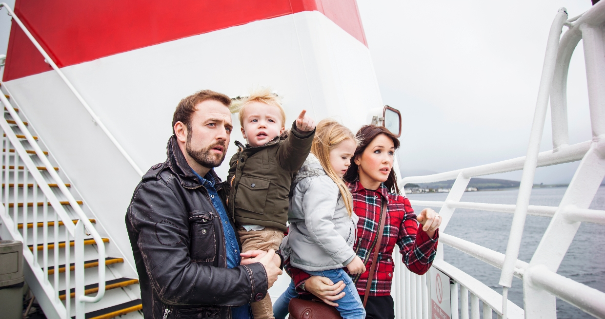 Family on board MV Bute