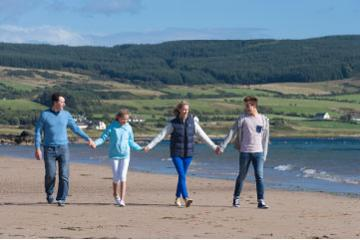 Arran family on beach